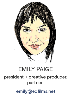 Emily Paige, e.d. films' President, Creative Producer, Partner