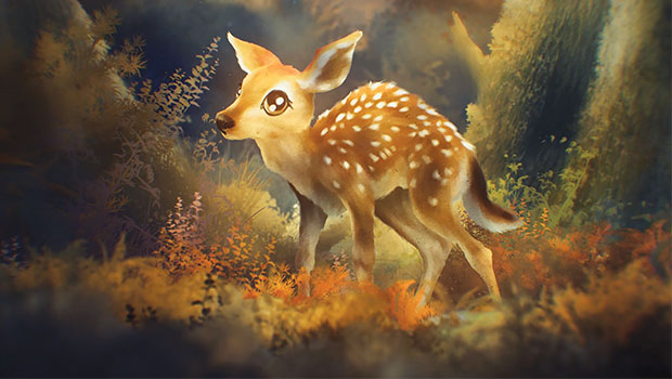 "This beautiful Baby Deer made an appearance in ""Brown Bear: What Are You TOXIN About?"" an animated short exploring the concept of bio-accumulation and bio-magnification and its effect on our environment."