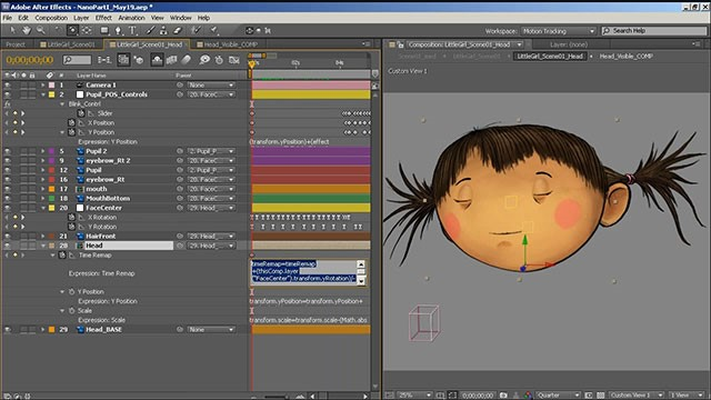 How to Animate a Simple 2D Character Head Rotation in Adobe After
