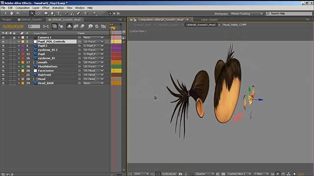 How to Animate a Simple 2D Character Head Rotation in Adobe